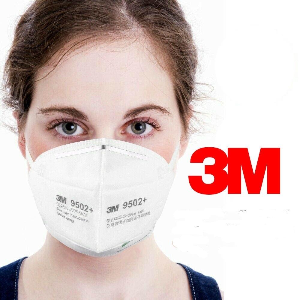 1 Pezzo 3M 9502 Mascherina FFP2 VALIDATO INAIL (SCONTI PER QUANTITA') EN 149 Mod. KN95 N95 Respiratore di Protezione