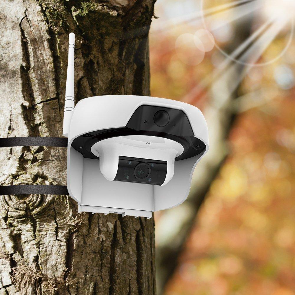 Pannello Solare Per Telecamera : Telecamera a batteria con pannello solare wifi gestibile