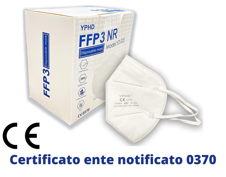 1 Pezzo Mascherina FFP3 Certificata CE EN 149 Mascherina 5 Strati Senza Valvola (Sconti per quantità maggiori) Maschera Facciale Protezione da Polvere Face Mask Protettiva Alta Efficienza di Filtraggio BFE=98