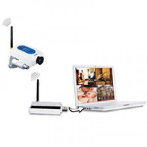 LYD W213DE1 2.4GHz kit videosorveglianza analogica con Motion Detection e Allarme