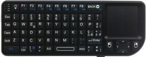 Mini tastiera retroilluminata con mouse touchpad wireless e laser