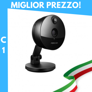 Foscam C1 Nero, HD 1 Megapixel lente 2.8mm 100° P2P Wireless