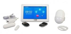 """Allarme Casa con display 7"""" LKM Security Antifurto Wifi gestibile da Smartphone colore Bianco"""