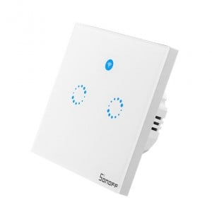 Interruttore Smart Home Sonoff a 2 posizioni Touch Panel Wi-Fi telecomando 433Mhz Smart Switch a muro Bianco