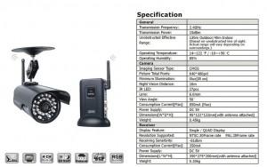 Kit videosorveglianza analogica 2.4 GHz digitale zero interferenze di sicurezza wireless con il 100% privacy