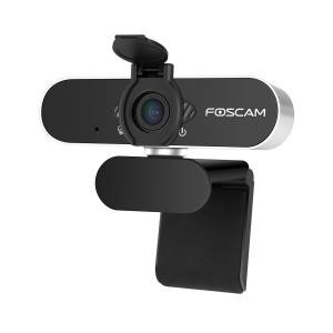 [IDEALE VIDEOCHIAMATE / CONFERENZE] Webcam Grandangolo USB 1080P Foscam W21 con microfono integrato e coperchio privacy! [Novità 2020]