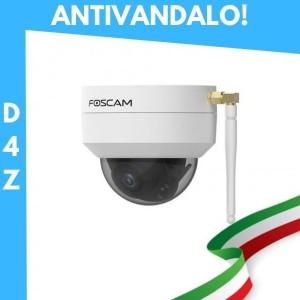 Telecamera RICONDIZIONATA [ANTIVANDALO / ESTERNI] D4Z Telecamera IP da esterno Motorizzata Foscam Wifi 4 megapixel 1080P Antivandalo Colore Bianco