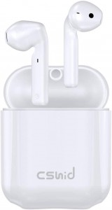 Cshidworld Cuffie Bluetooth 5.0 TWS con Cancellazione del Rumore, Cuffie in Ear HiFi APT-X CVC8.0 con Microfono Durata di 30 Ore, Ricarica Resistente al Sudore HiFi Cuffie per iPhone Huawei Samsung
