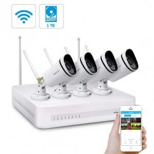 [PRE-ORDINE] Kit Videosorveglianza WiFi 8 Canali Foscam con 4 Telecamere IP Wireless Full HD 1080P con sistema Mesh e Hardisk 1 TB Incluso