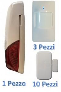 Kit espansione Antifurto professionale LKM AX-780 1 Sirena da esterno 10 Sensori porte 3 Pir