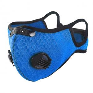 [NUOVA] Mascherina sportiva con filtro in carbone e filtro sostituibile IN TESSUTO 95% Mascherina di protezione antipolvere non DPI non DM colore blu