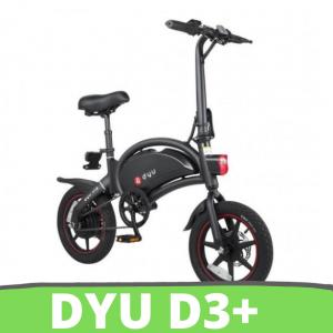 [FATTURA ITALIA] DYU D3 Plus. E-Power bike-Assistita bicicletta Elettrica 36V 10AH bici elettrica con 14 pollici pneumatici 250W 25Kmh Bonus Mobilità / Colore Nero
