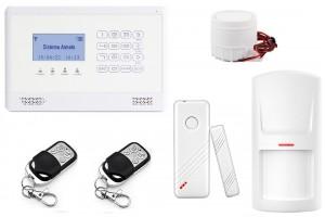 Nuovo Antifurto LKM Allarme Casa Kit Gsm Wireless Senza Fili Controllabile Da Cellulare Con Apposita App - Menu E Manuale In Italiano colore Bianco