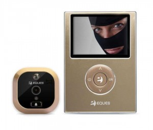 "Eques R25B Spioncino Digitale Porta Display Interno da 2.8"" Camera 0.3Megapixel Colore Bronzo"