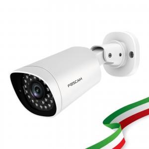 Telecamere Ricondizionati Foscam G4EP Telecamera IP PoE da Esterno Bullet 4 Megapixel 112° Colore Bianco Compatibile con Alexa