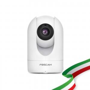 Telecamera Ricondizionata Foscam R2M Motorizzata 2 Megapixel Full-HD1080P 100° Visione Diagonale compabile con Alexa