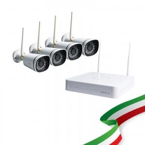 [PRE-ORDINE] Kit Videosorveglianza WiFi 8 Canali Foscam con 4 Telecamere IP Wireless Full HD 1080P con sistema Mesh [Hard Disk escluso]