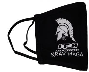 Mascherina in tessuto 100% cotone Krav Maga Taglia L XL NO DPI-NO DM Produzione Italiana Colore Nero
