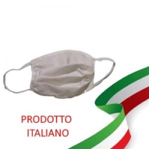 [MADE IN ITALY / MICROFIBRA / LAVABILE] Mascherina protettiva lavabile trattate antibatterico e idrorepellente ecologica