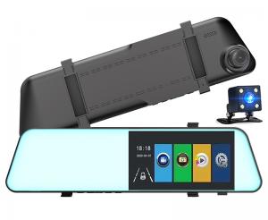 Telecamera per auto Dashcam LKM Security con specchio retrovisore integrato Alta Risoluzione FULL HD 170° schermo 5.5 pollici Touch screen