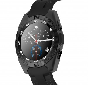 Smartwatch Bluetooth LKM Security con funzione cardiofrequenzimetro contapassi Colore Nero