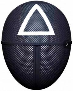 Squid Game Maschera Qualità Premium Simbolo Triangolo misura 25X18X9 Maschera Da Gioco Di Ruolo