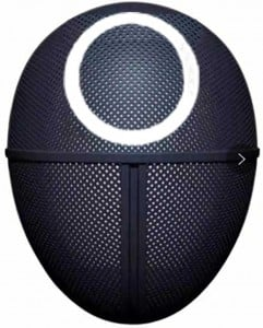 Squid Game Maschera Qualità Premium Simbolo Cerchio misura 25X18X9 Maschera Da Gioco Di Ruolo