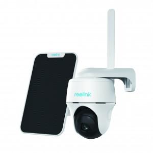 Telecamera da esterno 4G LTE Wireless 1080P motorizzata a batteria e pannello solare integrato Reolink Go PT