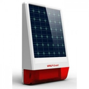 Sirena allarme pannello solare waterproof esterna wireless 433Mhz