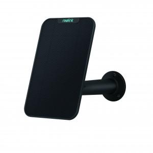 Pannello Solare per Telecamere Esterne Reolink compatibile con Argus 2, PT, Eco, Argus Pro, Go, montaggio Regolabile Colore Nero