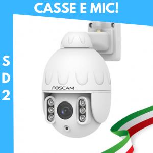 [AUDIO INTEGRATO / PTZ] SD2 Telecamera IP motorizzata Wireless da esterno con audio integrato