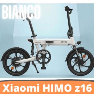 [FATTURA ITALIANA / BONUS]Bicicletta elettrica pieghevole HIMO Z16 Motore da 250 W fino a 80 km Velocità massima 25 km / h Batteria rimovibile IPX7 Impermeabile Smart Display Doppio freno a disco Versione globale - BIANCO