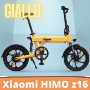 [FATTURA ITALIANA / BONUS]Bicicletta elettrica pieghevole HIMO Z16 Motore da 250 W fino a 80 km Velocità massima 25 km / h Batteria rimovibile IPX7 Impermeabile Smart Display Doppio freno a disco Versione globale - Giallo