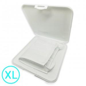 LKM Contenitore Extralarge porta mascherina portatile antibatterico tascabile ion AG+ agli ioni d'argento - Custodia mascherina - Scatola porta mascherina colore bianco - Organizer per mascherine antivirus - antipolvere - antimuffa