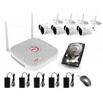 Kit Videosorveglianza Wifi 4 canali LKM Security gestibile da App con Hard disk 1 Terabyte colore BIANCO