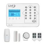 Allarme casa Wireless Atena LKM Security Allarme GSM WiFi PSTN gestione da remoto con sensori wireless 433Mhz