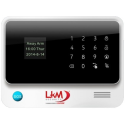 Antifurto LKM Security WiFI e GSM Con sensori Wireless tasto SOS 433Mhz colore bianco G90