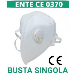 [ENTE CE0370] Mascherina FFP3 Mezorrison® con Valvola Certificata CE 0370 , EN 149 Mod.MZC-1896 FFP3 uso DPI
