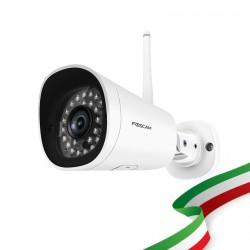 Foscam FI9902P 2 Megapixel Full HD1080P H.264 Wireless/Cavo con Visione Notturna 20 Metri Compatibile con Alexa