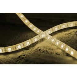 Striscia LED a 60 Lunga 5 metri colore bianco caldo Resistente alle intemperie con biadesivo incorporato