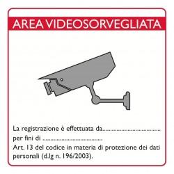 Lookathome CART02 Cartello videosorveglianza PVC adesivo 16x16 con Logo