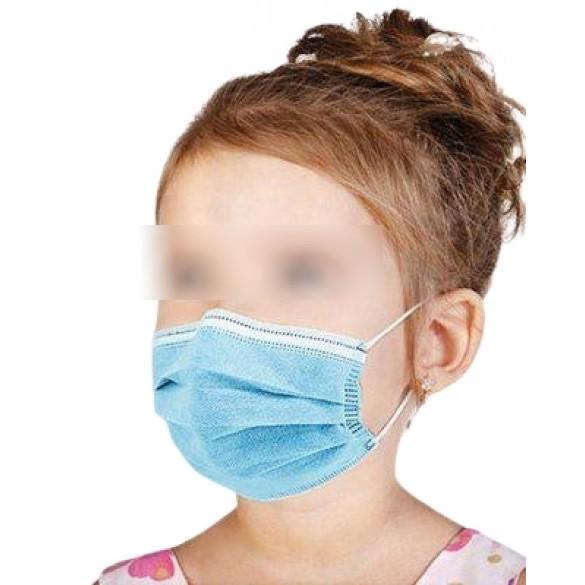 [PRODUZIONE ITALIANA] Mascherina Medicale BAMBINI Classe I TIPO 2 tre strati UNI EN 14683:2019 modello chirurgico