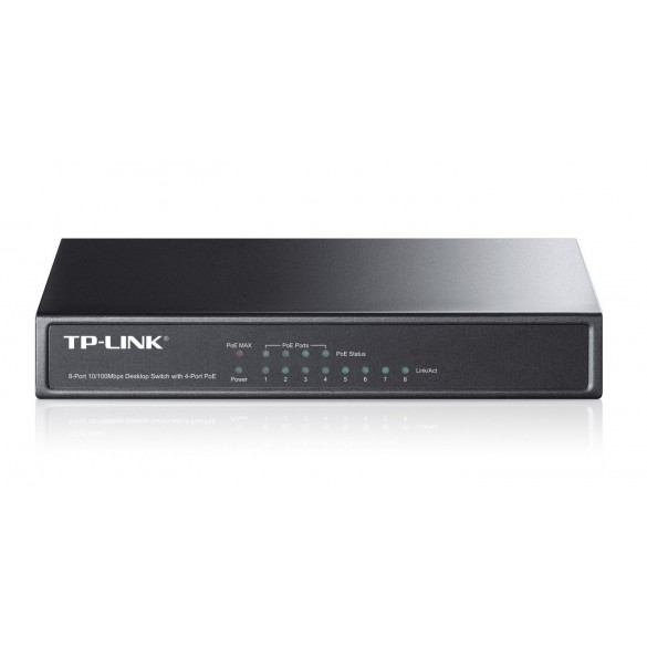 Switch Desktop 10/100Mbit 8 porte, 4 porte PoE