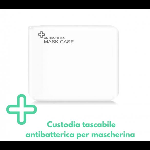 Contenitore porta mascherina portatile antibatterico