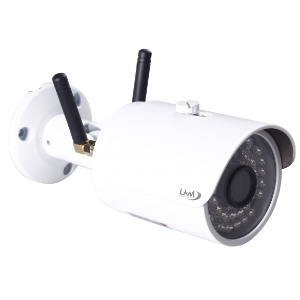 GekoRain LKM Security Telecamera GSM Wifi 4G con slot SIM da esterno in HD 1 Megapixel 110° P2P Wireless