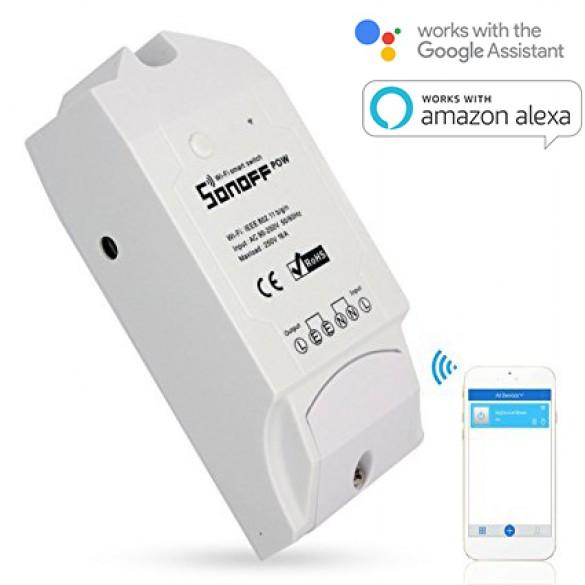 Monitor Energetico per Smart Home Sonoff POW Wi-Fi Sensore Smart