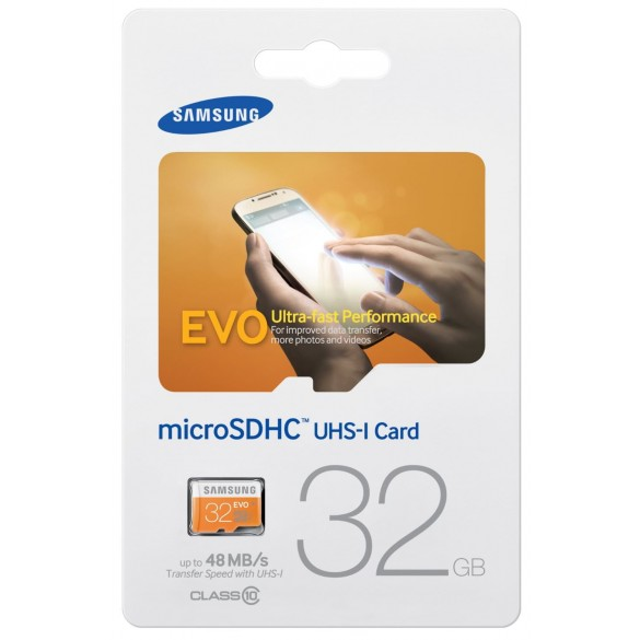 Scheda di memoria MicroSD 32GB Samsung MB-MP32D/EU Scheda Micro SD HC EVO