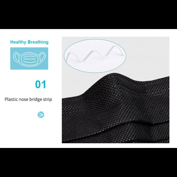 [SPEDITO ITALIA] Mascherina in grafene antibatterica chirurgica GONOX Riutilizzabile in Grafene 1 Pezzo / 3 Strati Polimero uso civile / Tessuto non Tessuto 3PLy Anti Polvere / Particelle / Polline / antibatterica /  NO DPI NO DM