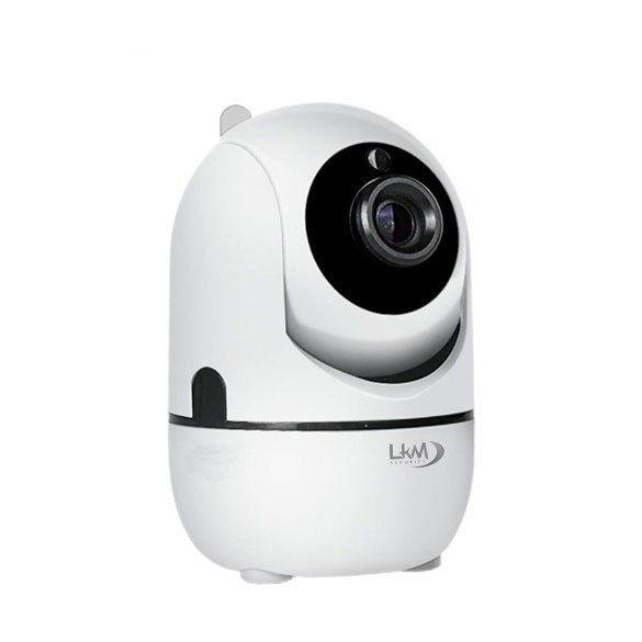 Telecamera IP Wireless Autotracking LKM Security HD 720P CCTV H.264 Cloud Auto Tracking IP Camera Wifi - Colore bianco