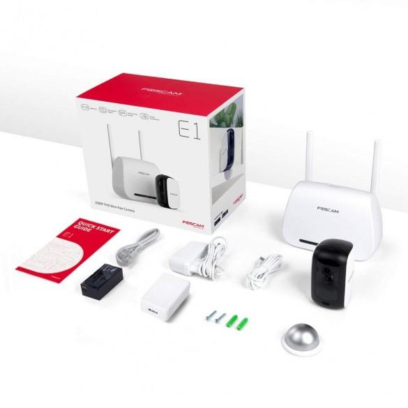 Telecamera a batteria Wireless Foscam E1 Full HD 1080P 2 Megapixel Batteria Lunga Durata Con Stazione Wireless